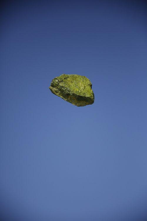rock yellow floating