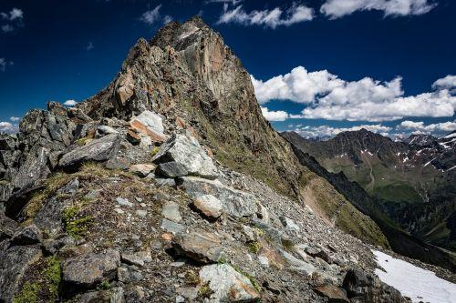 rock mountain sky