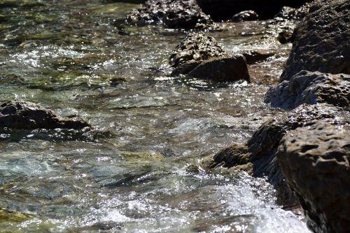 rock water on rocks water