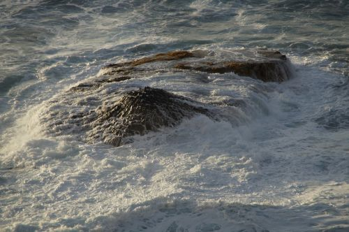 rock sea ocean