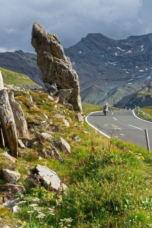 rock pass high alpine road