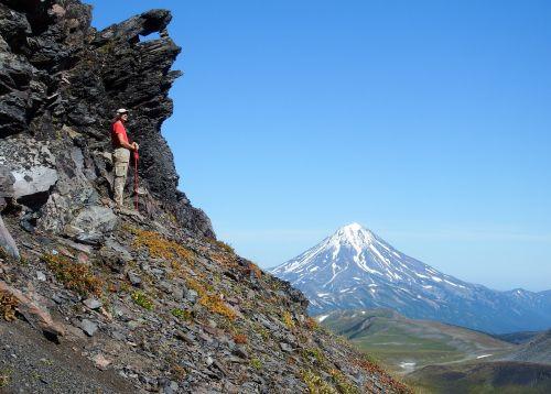 rock volcano mountains
