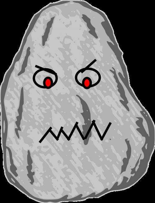 rock stone cartoon