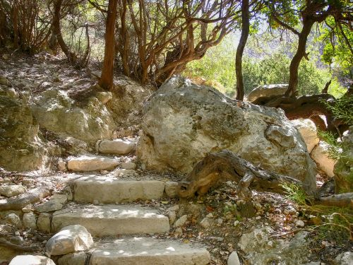 rock stairs rise