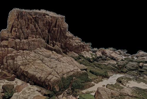 rock  moss  water