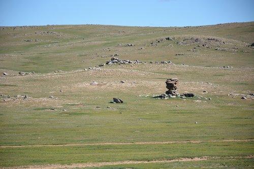 rock  nature mongolia  steppe