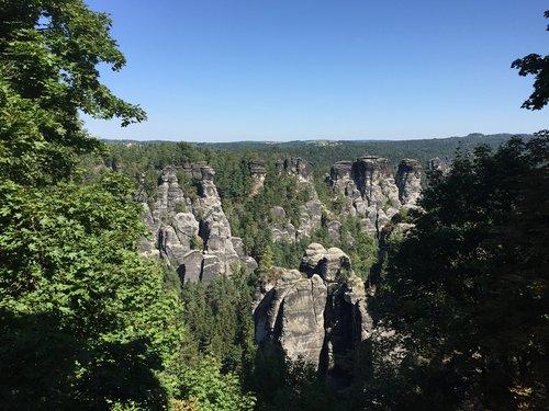 rock  sandstone mountain  elbe sandstone mountains