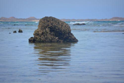 rock nature sea