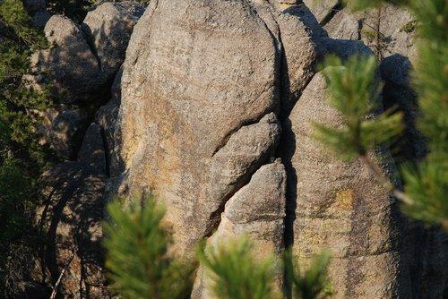 rock  cracks  shadow