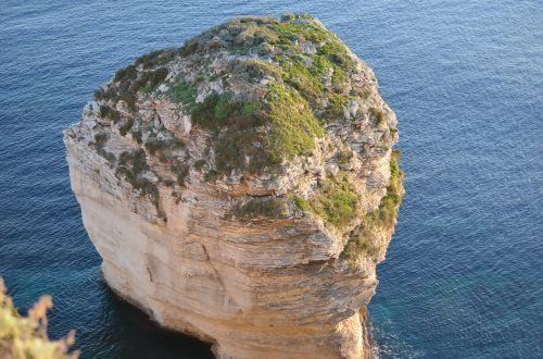 rock cliff water