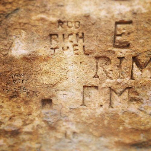 rock engraving stone