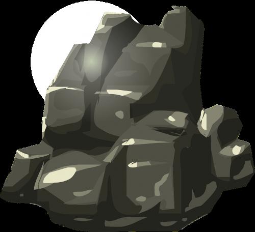 rock black stone