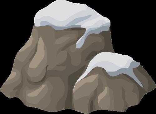 rock snow snow capped