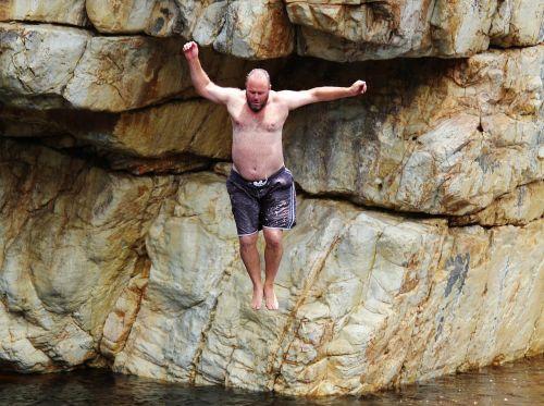 rock jump courageous