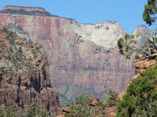 rock zion national park landscape