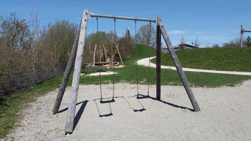 rock kids rocking playground swing