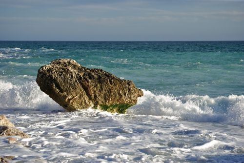 rock sea stress