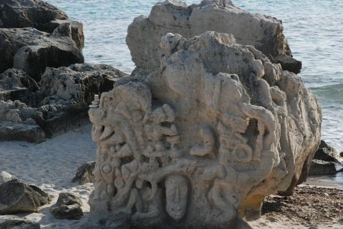 rock art ibiza beach