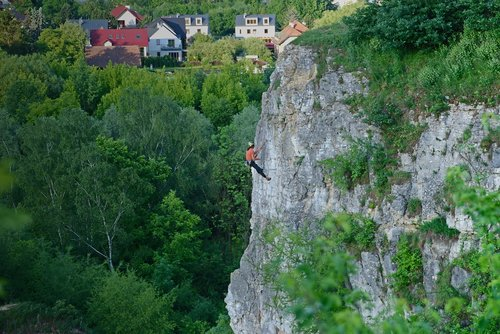 rock climber  mountains  sports