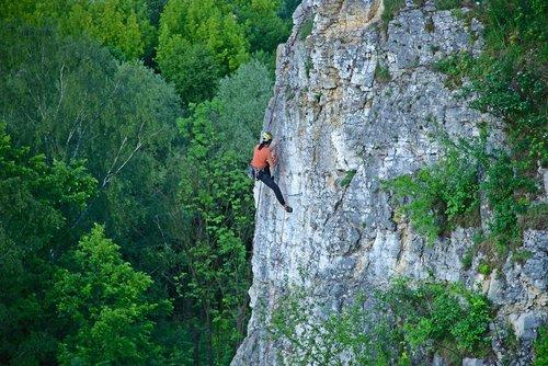 rock climber  sports  mountaineering