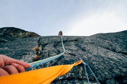 rock climbing protection climber