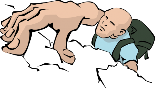 rock climbing climber via ferrata
