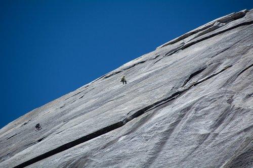 rock climbing  yosemite  thrill