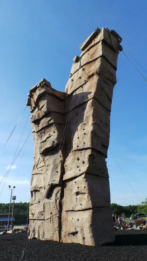 rock climbing wall wall white water center