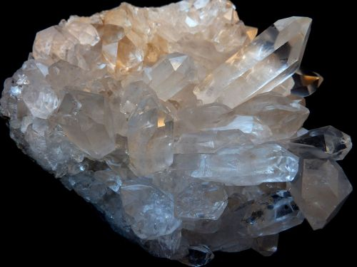rock crystal clear to white gem top