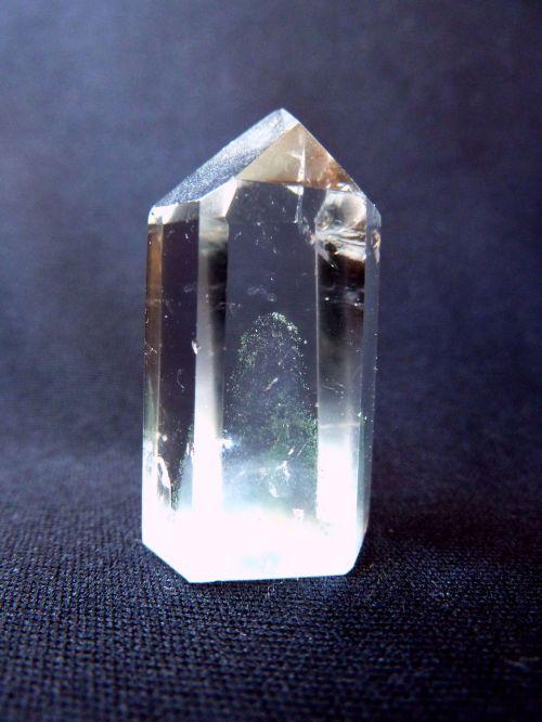 rock crystal glassy green