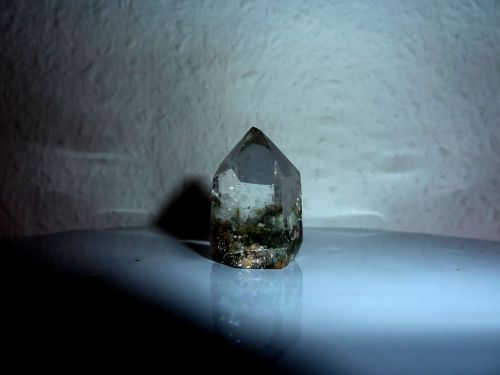 rock crystal glassy mysterious world