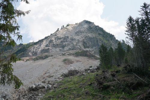 rock fall landslide vilsalpsee