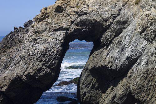 rock formation big sur pacific ocean
