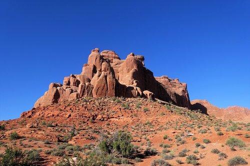 rock formation  moab  utah