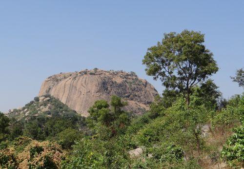 rock formation hillock granite
