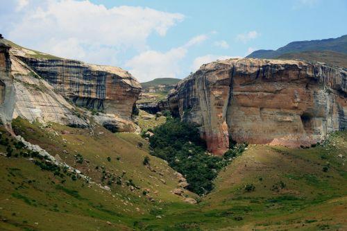 rock formations rock sides cliffs