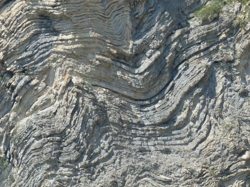 rock formations folded fold