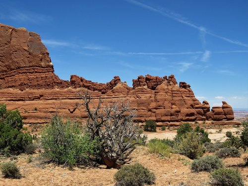 rock formations  red sandstone  hiking