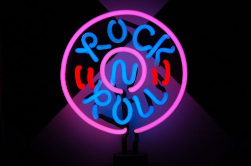 rock and roll lamp neon