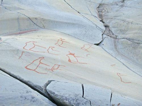 rock painting drawing prehistoric