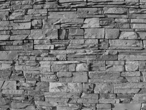 rock wall exterior pattern