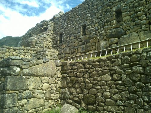 rock wall machupicchu landscape