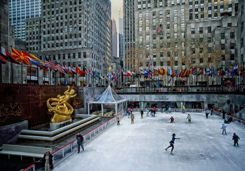 rockefeller plaza skating rink new york city