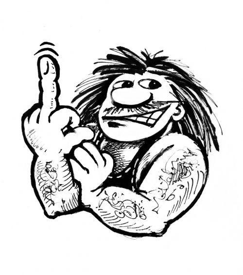 rocker finger graphic