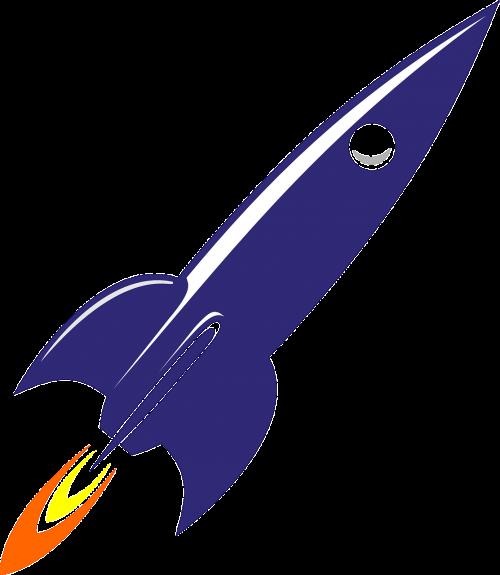rocket cosmic spaceship