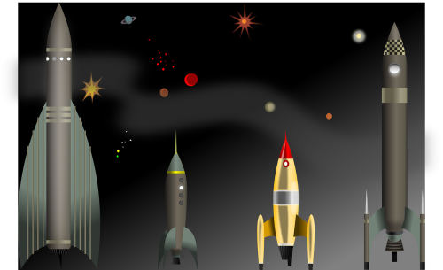 rocket space cosmic