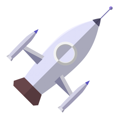 rocket astronaut vector