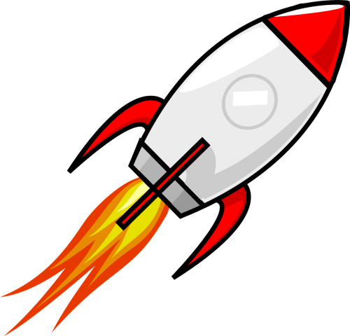 rocket space ship space