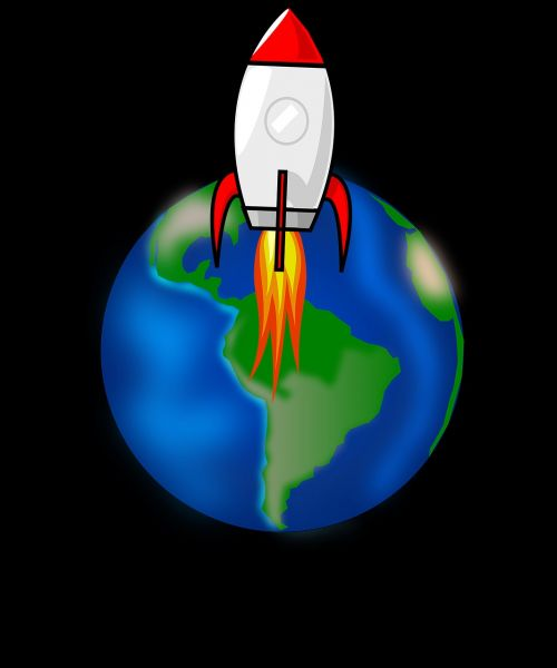rocket space earth