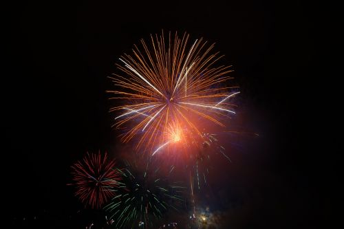 rocket orange fireworks